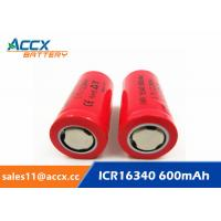 Quality 16340HP 600mAh 16340 3.7V li-ion battery 10-20C high rate power battery for for sale