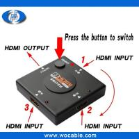 Wholesale New 1.4version 3 Ports 3X1 HDMI Switch 3 in 1 out hdmi switcher from china suppliers