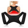 2019 Amazon Hot selling Neoprene Black Back Brace Posture Corrector for Women & Men for sale