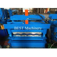 China Color Steel Coated Roman Tile Roll Forming Machine 0.3-0.8mm Coil Thickness for sale