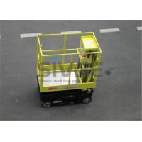 Quality Motor Driven / Self Driven Aluminum Work Platform 5m Working Height Dual Mast for sale