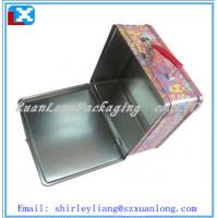 Wholesale rectangular lunch tin box with handle from china suppliers
