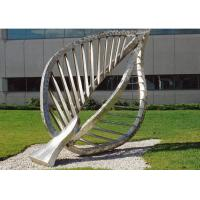 Quality Large Contemporary Art Outdoor Metal Sculpture , Leaf Metal Garden Sculptures for sale
