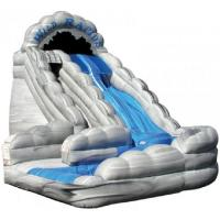 Wholesale Gray Inflatable Water Slides Big Double Lane Wild Rapids With Pool from china suppliers