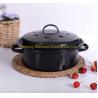 3QT 26*26*7.4cm dimension customized color cast iron enamel stock pot for sale