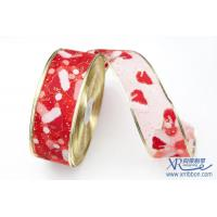 """Wholesale 2015 best selling  wired offset christmas ribbon  2-1/2""""*100yards for gift packing and box or garment accessories from china suppliers"""