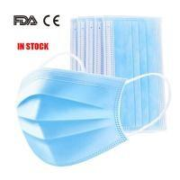 Wholesale Latex Free 3 Ply Disposable Face Mask , Non Woven Fabric Mask CE FDA Certificated from china suppliers