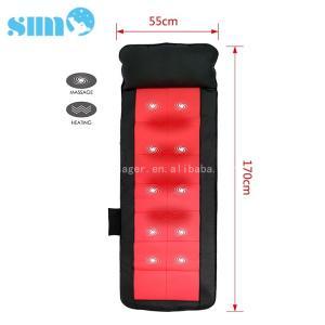 China Black Red PU Heated Massage Mattress Safety 15mins Timer Relief Muscle Stress on sale