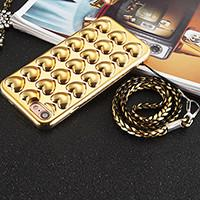 Plating TPU 3D Love Heart Cell Phone Case Back Cover for iPhone 7 7 plus 6 6s 6 Plus 6s Plus with Lanyard for sale