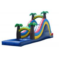Wholesale Wonderful Palm Tree Inflatable Wet Slide For Small Kids / Fun Water Slide from china suppliers