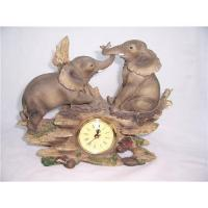 China Exquisite couple elephant clock craft on sale