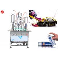 Semi Automatic Acrylic Spray Paint Can Filling Machine5000-8000cans/Shift for sale