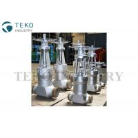 Quality Fully Open / Close High Temperature Gate Valves With Flange End Butt Weld End for sale