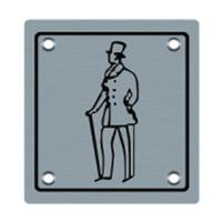 Wholesale Gentleman signage metal sign plate (BA-P013) from china suppliers