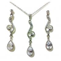 Wholesale Unique Elegant Vintage Crystal Prom Jewelry Sets For Women Design from china suppliers