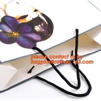 Wholesale Recycle eco friendly Brown flat bottom shopping kraft paper bag With Paper Handle, Recyclable luxury style printed gift from china suppliers