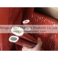 Buy cheap self-extinguishing high temperature silicone rubber Jacketed Fiberglas Sleeving from wholesalers