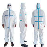Wholesale PPE Disposable Protective Suit , Chemical Protective Coveralls Clinical Mutiple Sizes from china suppliers