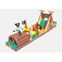 Wholesale Pop Commercial Inflatable Obstacle Course , Commercial Indoor Obstacle Course For Playing from china suppliers