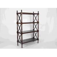 Wholesale 144CM Walnut Soild Wooden Book Rack Four Tiers For Living Room Corner Storage from china suppliers