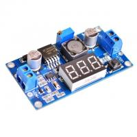 Wholesale LM2596 DC 4.0~40 to 1.3-37V Adjustable Step-Down Power Module + LED Voltmeter from china suppliers