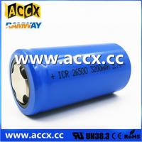 Wholesale rechargeable battery ICR26500 3.7V 3200mAh from china suppliers
