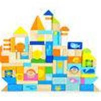 Wholesale Creative Thinking Ocean Scene Children Wooden Toy Blocks Castle Buildings from china suppliers