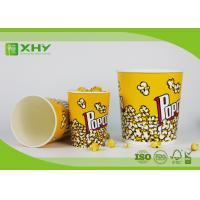 Wholesale Food Grade Paper Popcorn Buckets With Paper Lid , Top180mm 85oz Paper Cups from china suppliers