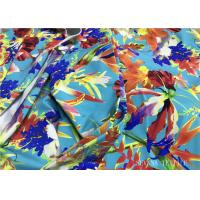 Wholesale Mini Floral Printed Bikini Fabric Material , 180gsm Lycra Bathing Suit Fabric from china suppliers