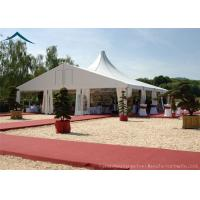 China White Mixed Wedding Reception Tents 10m* 30m Aluminum Tents For Exhibition on sale