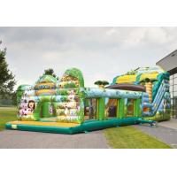 Wholesale Safety Jungle World Commercial Inflatable Slide With Obstacle Course from china suppliers