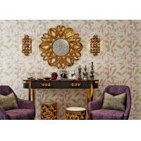China Leaf Printing Modern Removable Non Woven Wallpaper Waterproof Vinyl Wall Covering on sale
