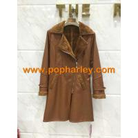 China Factory Price!!! wholesale lady long leather jackets for sale