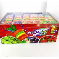 Quality Colorful Multi Fruit Flavor Twist Lollipop with Fluorescent sticks sweeet and healthy for sale