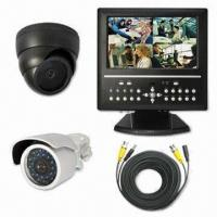 Wholesale All-in-one 4CH LCD DVR with 10.2-inch Screen Display, Built-in Color CCD Camera, and Lens from china suppliers