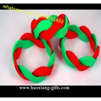 custom size Twisted Fashion Silicone wristband/ Bracelet for promotion for sale