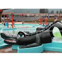 Wholesale Small Fiberglass Water Pool Slides For Kids , Water Park Equipment Crocodile Slide from china suppliers