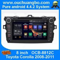 Quality Ouchuangbo Car DVD Stereo System for Toyota Corolla 2008-2011 Android 4.4 3G Wifi BT Audio for sale