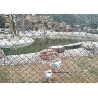 Wholesale PVC Coated Wire Netting Fence / Green Wire Fencing Chain Link For Zoo Protection from china suppliers