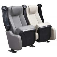 Quality Leather Upholstered Theater Seating Chairs With With Spring Soft Seat Pad And for sale