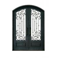 Wholesale Double Swing Ornamental Iron Parts Exterior Iron Front Doors European Style from china suppliers