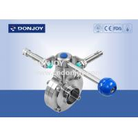 Wholesale Manual  butterfly valve sanitary level operated by pull rod with position sensor from china suppliers