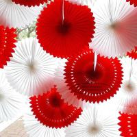 Wholesale Solid Color Pierced Paper Fan Decorations Paper Backdrop Decor from china suppliers