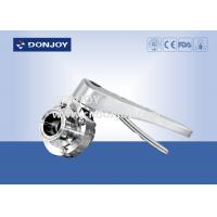 Buy cheap Manual clamped sanitary buttterfly valves with stainless steel handle from wholesalers