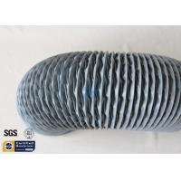 Wholesale PVC Coated Fiberglass Fabric Flexible Air Ducts 200MM 10M Grey 260℃ HAVC System from china suppliers