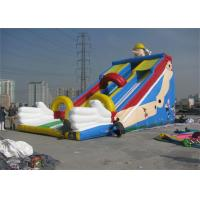 Quality Large Commercial Inflatable Slide, Outdoor Inflatable Slide For Sport Games for sale