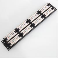 Wholesale Network Rack Cat5e RJ45 48Port Patch Panel Fluke Pass UTP Modular Patch Panels With 2 bars from china suppliers