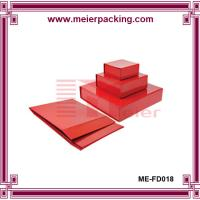 Wholesale NEST PAPER BOX, Multiple size red paper gift box, magnetic folding paper box ME-FD018 from china suppliers