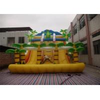 Wholesale Yellow Commercial Inflatable Slide , Inflatable Stair Slide With Two Slide Way from china suppliers
