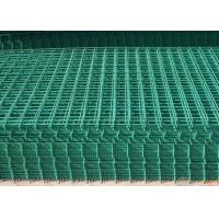 Wholesale PVC Coated Wire Mesh Fence Panels For Highway / Construction Green Color from china suppliers